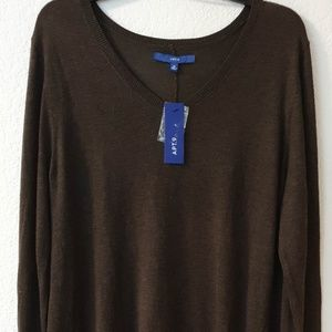 $40 NEW WITH TAG TUNIC DRESS SIZE XL BROWN